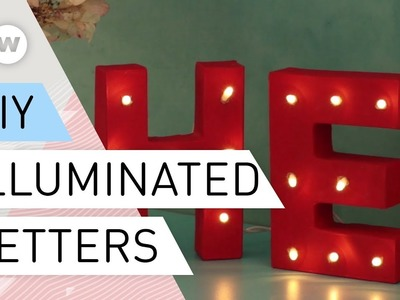 DIY - How to make decorative light letters by Franziska Kouidis