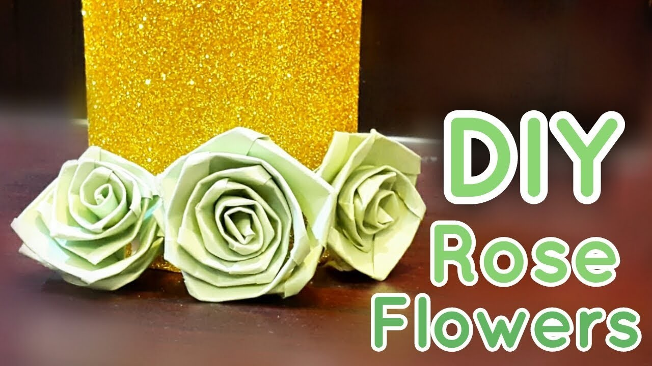 Diy How To Make Rose Paper Flowers