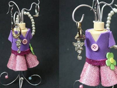 DIY Jewelry Organizer.DIY Jewelry Holder. Manualidades - Maniquí porta joyas