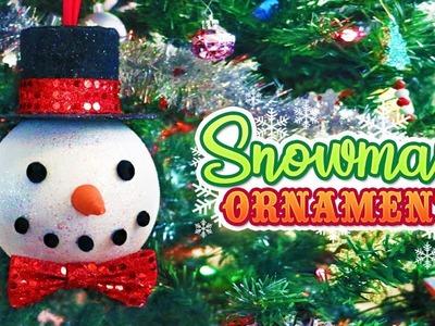DIY Large Snowman Christmas Tree Ornament. Christmas 2018