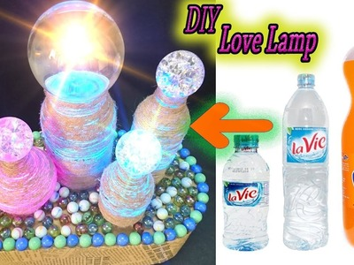DIY Love Lamps from Glass Sphere and plastic bottle – Easy to make DIY – Paper Magic Top