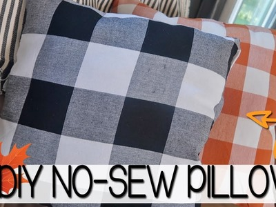 DIY NO-SEW THROW PILLOWS | PILLOWS FROM SEASONAL NAPKINS | DIY FALL PILLOWS