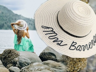 DIY PERSONALIZED SUN HAT! ONLY $2 !