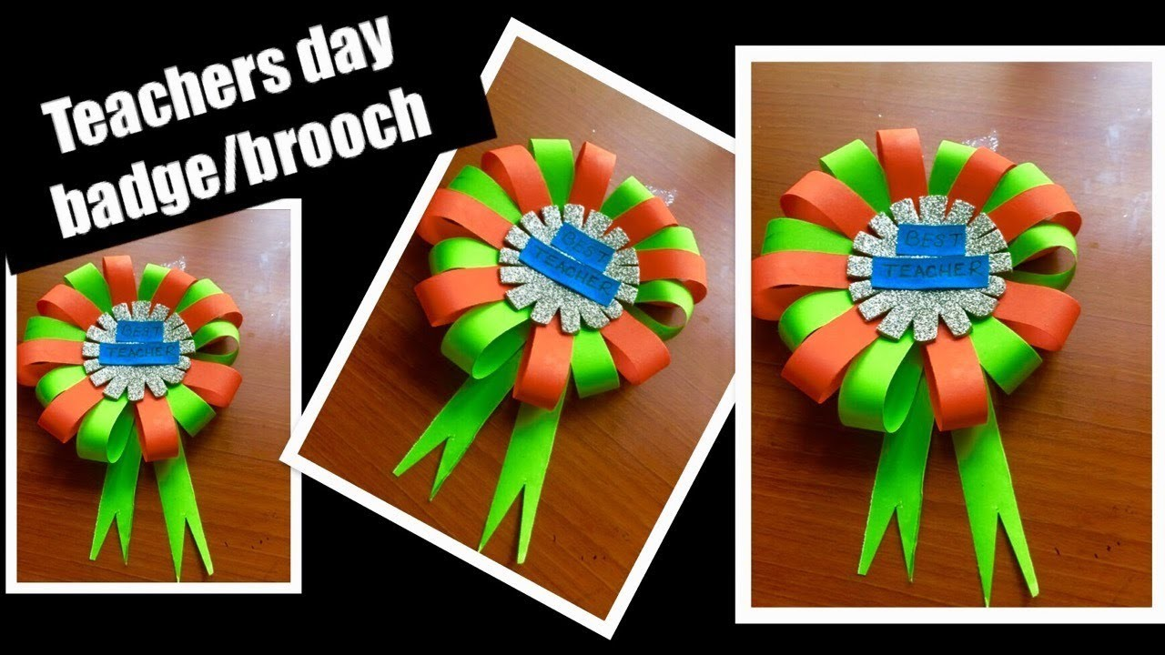 Diy Teachers Day Decoration Ideas For Schools Bulliten Board Brooch