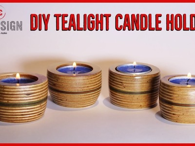 DIY Tealight Candle Holders. No Lathe. by BCDesign01
