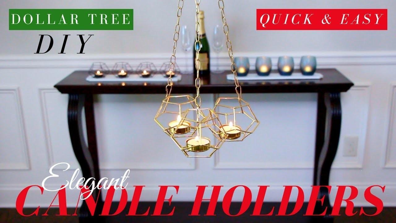 Dollar Tree DIY Candle Holders   Dollar Tree DIY Room Decor   ONLY $4.
