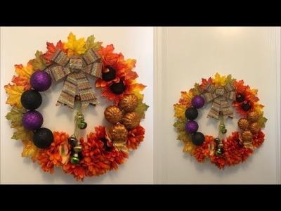 Dollar Tree DIY FALL Wreath | beauty In budget