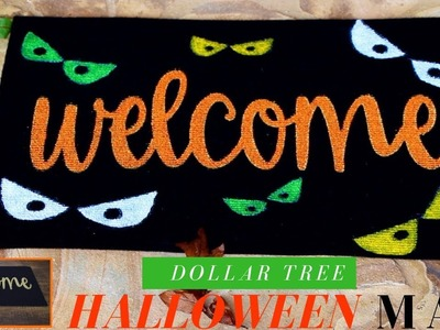 Dollar Tree DIY Halloween Mat | Easy & Affordable Halloween DIY Decor | 2018