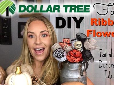 Dollar Tree DIY & RIBBON FLOWERS + Farmhouse Decorating Ideas