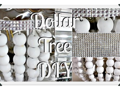 ????Dollar Tree Glam   ????Beaded Lamp DIY????