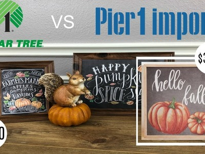 DOLLAR TREE VS PIER 1 IMPORTS - FALL DUPE DIY | $1.00 vs $31.99!!
