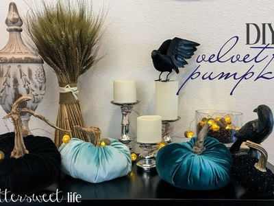 Easy DIY Velvet Pumpkins for Autumn Home Decor