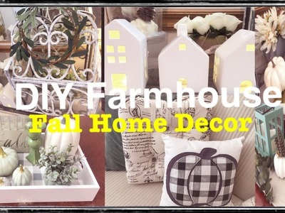 EASY FARMHOUSE DIY FALL HOME DECOR BUDGET-FRIENDLY HAUL IDEAS DIYS TIPS (2018)