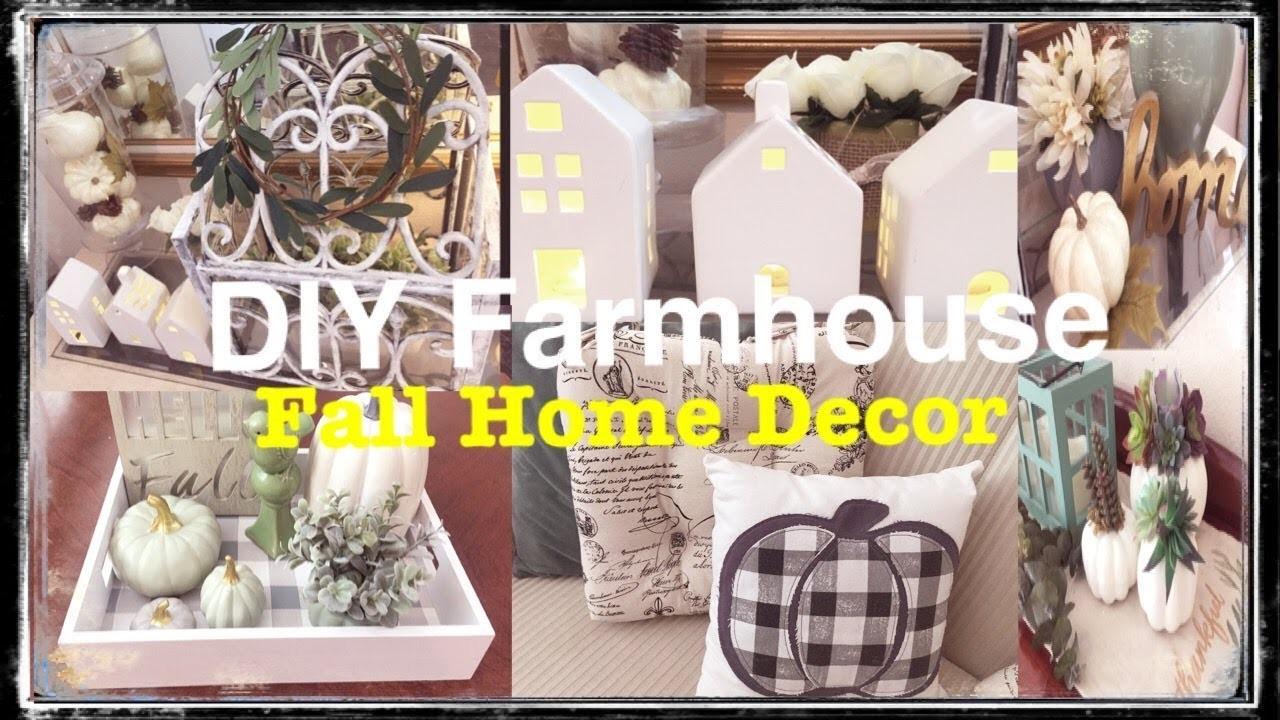 EASY FARMHOUSE DIY FALL HOME DECOR BUDGET-FRIENDLY HAUL IDEAS DIYS TIPS (2018)