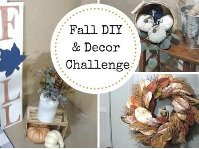 Fall DIY & Decor Challenge 2018   Decorate With Me Fall Front Porch   DIY Fall Sign  WifeandMomsLife