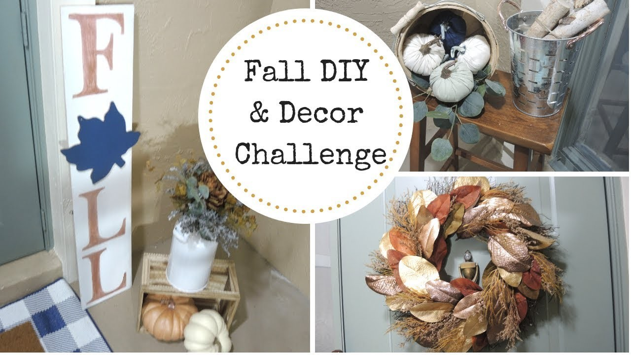 Fall DIY & Decor Challenge 2018 | Decorate With Me Fall Front Porch | DIY Fall Sign  WifeandMomsLife