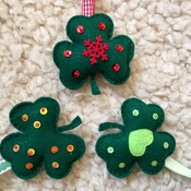 Felt Christmas Ornament Irish Lucky Shamrock