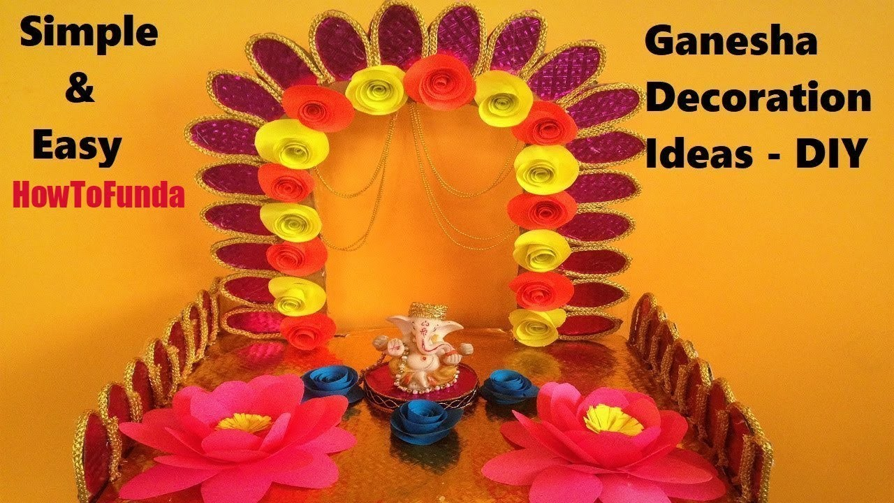 Ganapati decoration ideas for home 2018 | ganesha decoration ideas | diy | eco friendly | easy