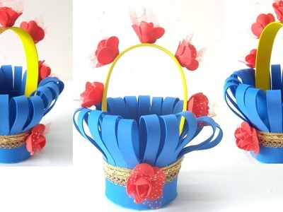 How to make A Basket with FOAM SHEET:- DIY at Home