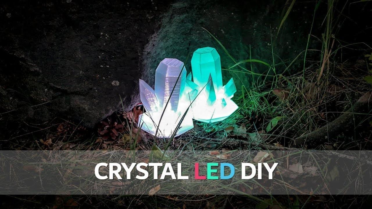 How To Make Crystal LED DIY - Neopixel, 3D Printer