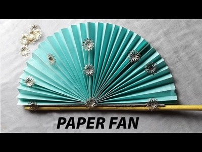 How to make hand fan with paper||Orgami fan || Chaina fan|| Art and craft house