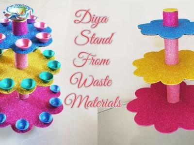 How to Make Multilayer Diya Stand.DIY Diya Stand of Waste Materials.Diwali.Christmas Home Decor Idea