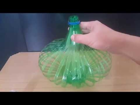 How to make Night Lamp Light Stand from Plastic bottle DIY