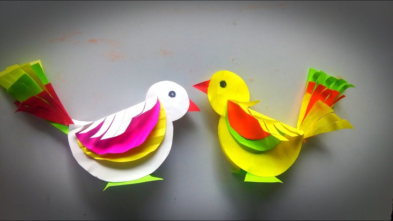 How To Make Paper Birds Crafts Easy Make Paper Birds Easy Crafts