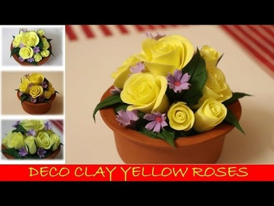 How to make Yellow Roses with Deco clay