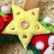 Magical Christmas Welcome wreath Felt Greeting Decor