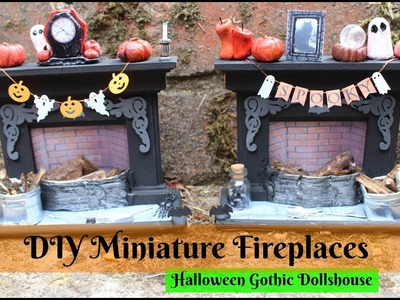 Making Miniature Spooky Fireplaces - DIY Dolls House (Part 6)