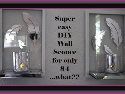 Mirrored Wall Sconce Dollar Tree DIY