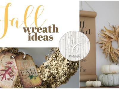 Natural Fall Wreaths, DIY Autumn wreaths from your own backyard!