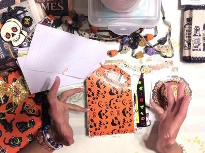 October Daily DIY Kit - Halloween ???? Junk Journal Kit - Flip Through - Embellishment Kits
