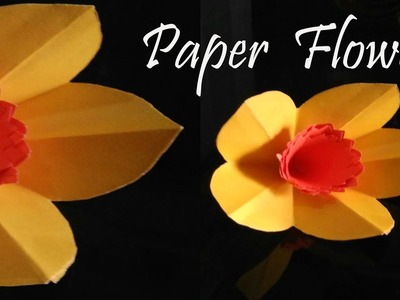 Paper flower making video- easy  a4 colour paper- DIY