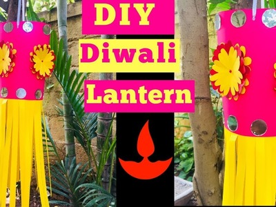 Paper Lantern For Diwali | How To Make Diwali Lantern At Home | Lantern DIY