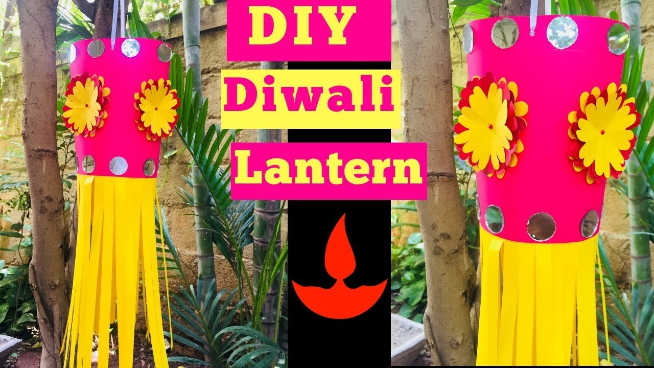 Paper Lantern For Diwali   How To Make Diwali Lantern At Home   Lantern DIY