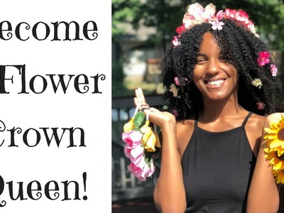 Part 1 - Seven DIY Dollar Tree Flower Crowns & Hair Accessories