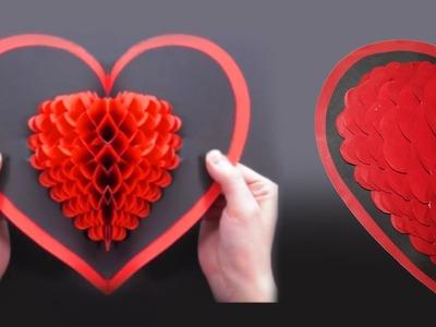Pop Up Card: Heart ❤ DIY Valentine's Day Heart Pop-up Card ❤ love card  easy craft