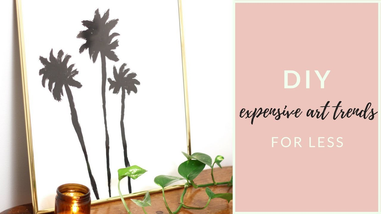 Recreating Expensive Art from Anthropologie, West Elm, and Urban Outfitters On A Budget!