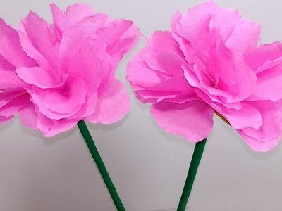 Stick Tissue Flower:Stick Tissue Flower Making for Home |DIY Tissu Flower | Jarine's Crafty Creation