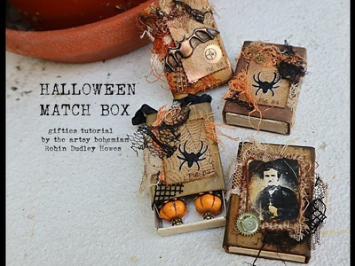 Vintage Halloween mini gift box ideas DIY tutorial