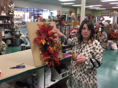 Watch Anna from Dee's make a Fall Swag. front door decor DIY How To