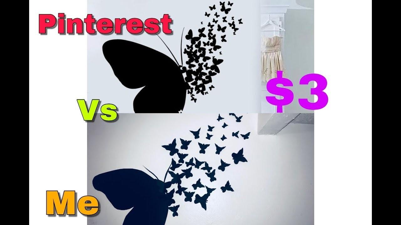 $3 Butterfly Wall Art|| Pinterest Recreation || how to|| Mwaka Kashinka || Zambian |bedroom decor |
