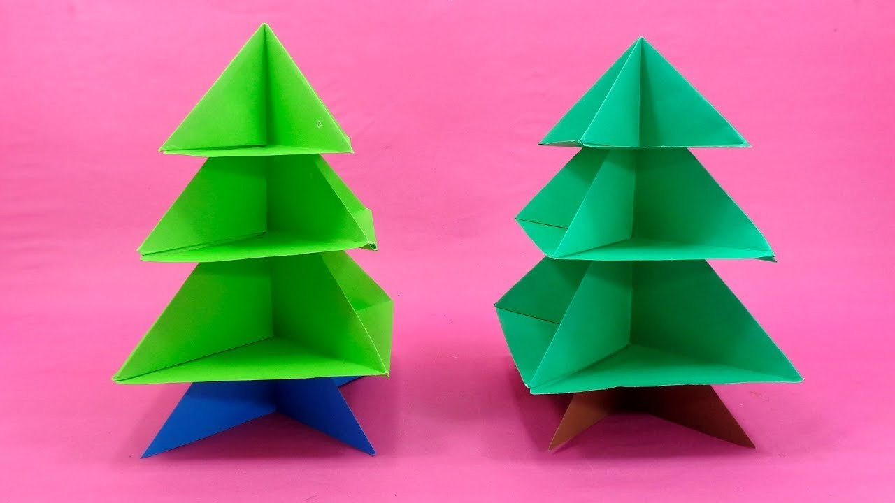 3D Paper Christmas Tree Making For Christmas Events - Crafts Ideas