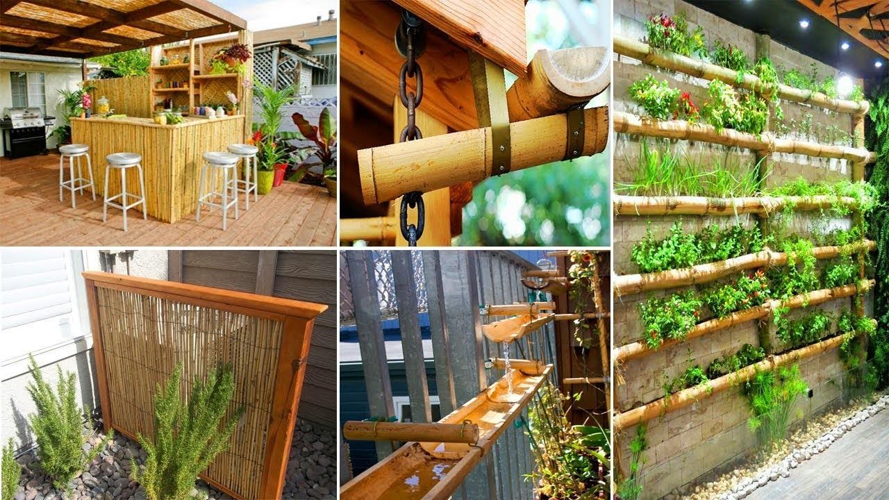 50+ Easy and Attractive DIY Garden Using Bamboo | DIY Garden