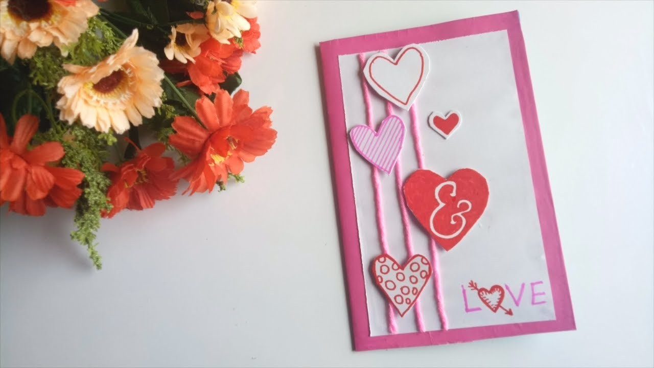 A beautiful greeting card for Anniversary \\ DIY Anniversary Card.