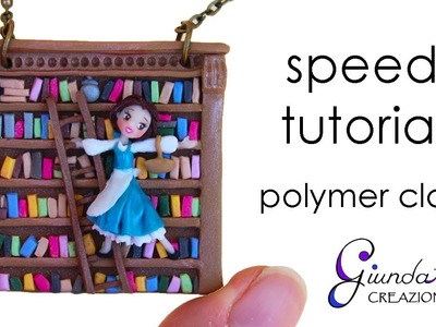 Belle in the Library - Time Lapse Polymer Clay Process - Speed Tutorial