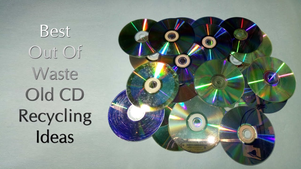 Best Out Of Waste Old Cd Craft Idea Old Cd Recycling Idea Cd Reuse