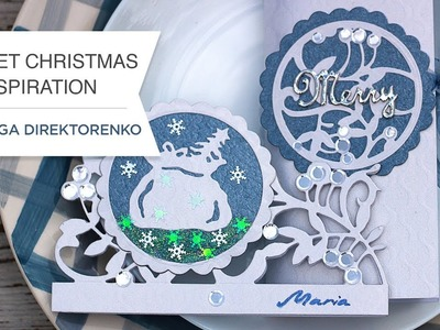 Blue and White Christmas featuring A Sweet Christmas collection with Olga Direktorenko